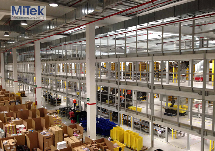 Foto MiTek revealed as UK's top mezzanine floor supplier.